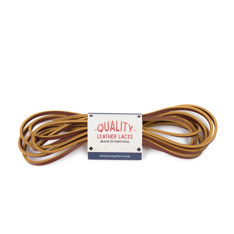 Shoelaces Leather Cognac