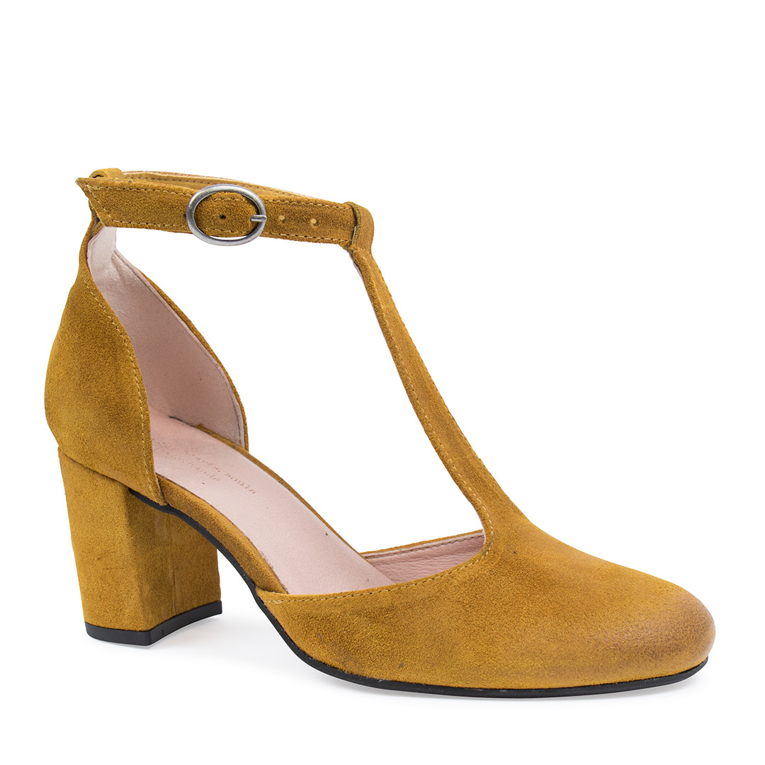 Amie Yellow Suede