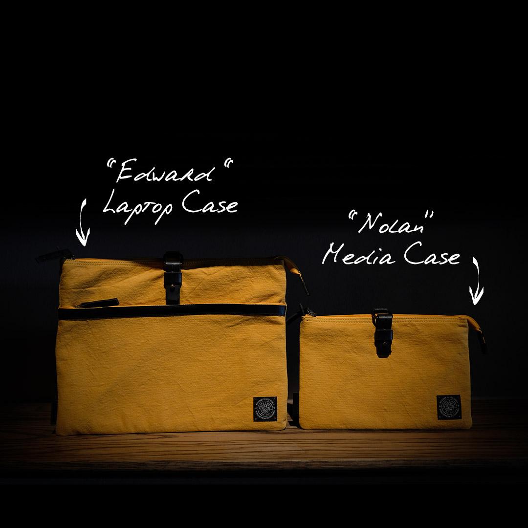 Edward-laptop-case-ochre-detail