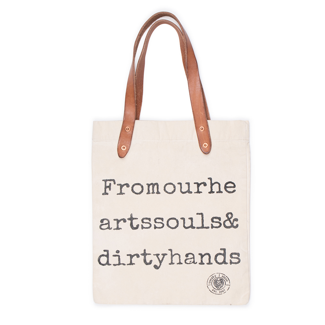 Logo Tote bag Offwhite front