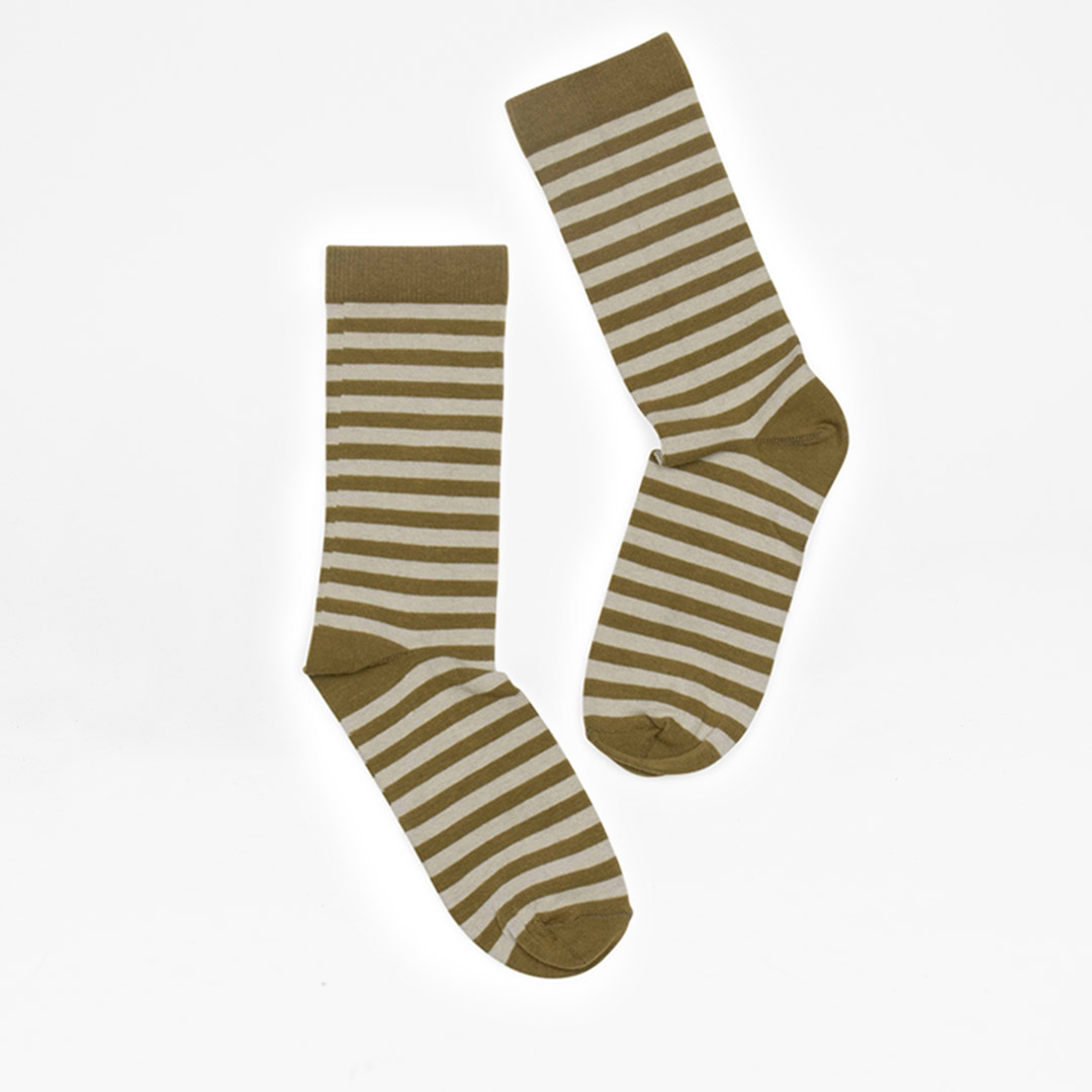 Stripe olive-l-beige