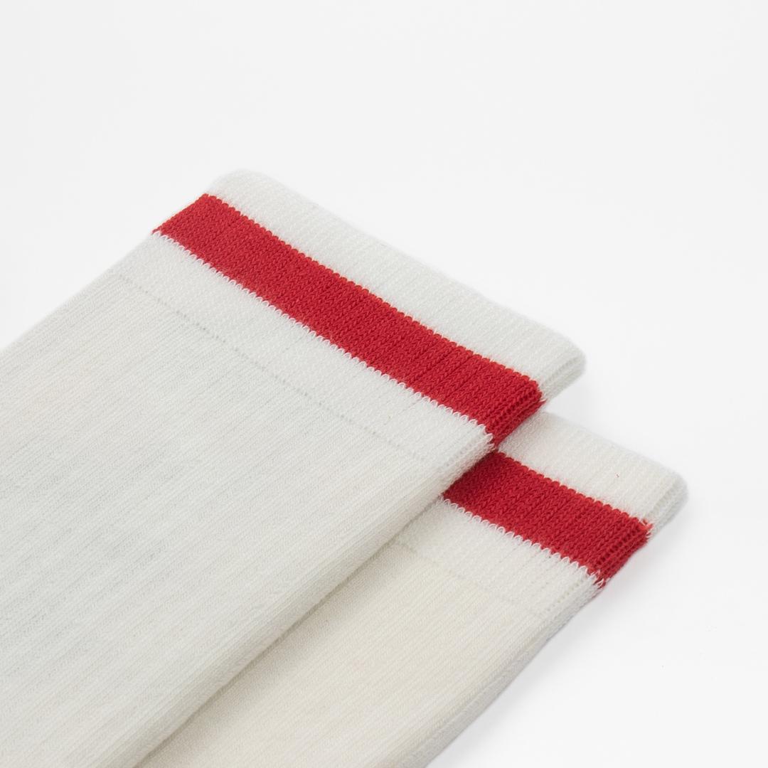Red Stripe Off White