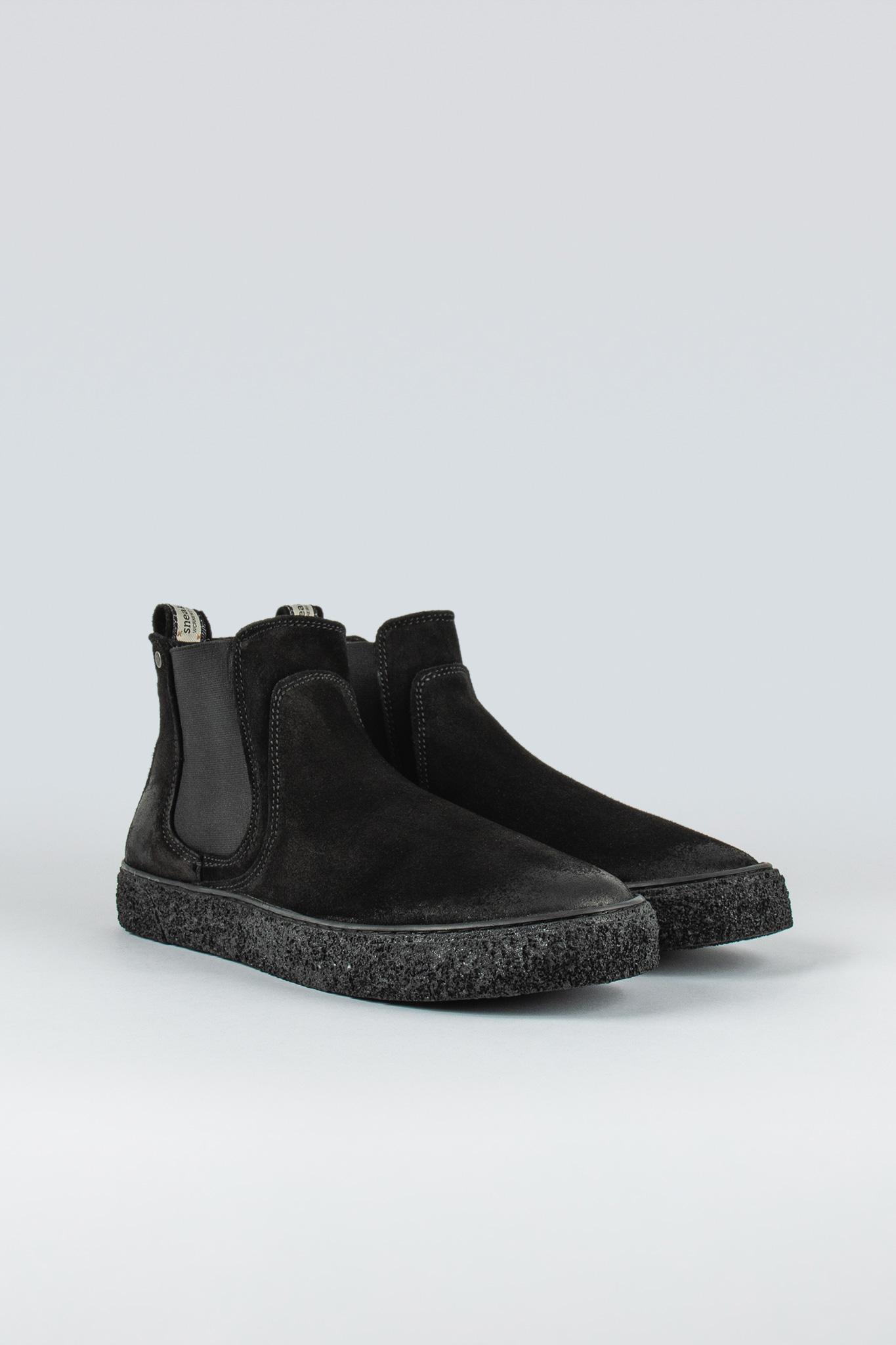 Style: Sluggish Black Suede