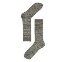 Warm socks for the winter in Green Melange