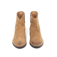 Imperial-cowboy-boot-zipper-suede-beige-front