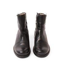 Shady-leather-boots-zipper-black-front