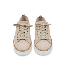 Silvermine Low W Nude Suede Front